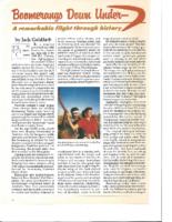 BOOMERANGS DOWN UNDER. The Rotarian Magazine. October 1992