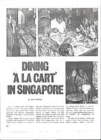 DINING 'A LA CART' IN SINGAPORE. Lookeast. Date Unknown