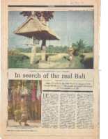 IN SEARCH OF THE REAL BALI. Sunday Statesman. November 24, 1991
