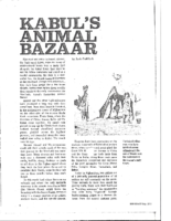 KABUL'S ANIMAL BAZAAR. Lookeast. July 1977
