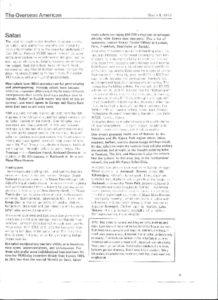 thumbnail of SAFARI. The Overseas American. March 9, 1977