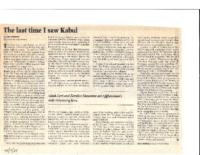 THE LAST TIME I SAW KABUL. New Jersey Jewish News. December 2001.