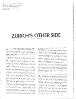 ZURICH'S OTHER SIDE. Pt.1. Silver Kris (Singapore Airlines). Date Unknown.