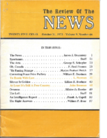 COVER TO RUSSIA WITH CARE. The Review of The NEWS. October 31, 1973.