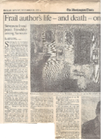 FRAIL AUTHOR'S LIFE- AND DEATH- ON A TREASURED ISLAND. Complete. The Washington Times. Sunday, December 10, 1995.