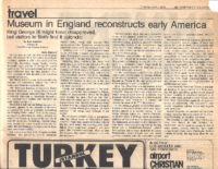 MUSEUM IN ENGLAND RECONSTRUCTS EARLY AMERICA. The Christian Science Monitor. Tuesday, June 1, 1976