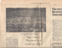 RIGA-LATVIA'S PLAYGROUND IN A CITADEL OF CULTURE. The New York Times, Sunday, April 26, 1970