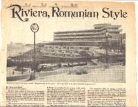 RIVIERIA, ROMANIAN STYLE. Complete. Newsday (Long Island, NY). Sunday, July 7, 1974.